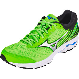 Mizuno Wave Rider 22 Shoes Herrer, green gecko/silver/brilliant blue